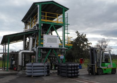 ENEA Pilot plant PRAGA for biomass gasification with air/O2/stream in updraft mode