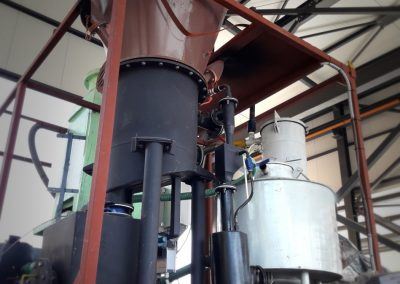 CERTH's biomass gasification unit