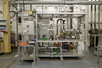 Trickle bed reactor plant for continuous catalytic bio-oil upgrading - KIT