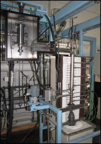 Bench-scale bubbling and circulating fluidized-bed combustion units (FBCU)
